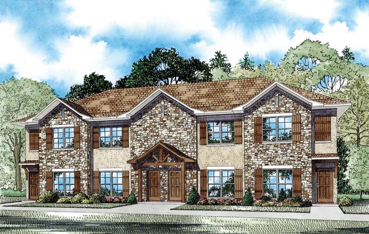 Multi-Family Plan 82063 with 8 Beds, 12 Baths Elevation