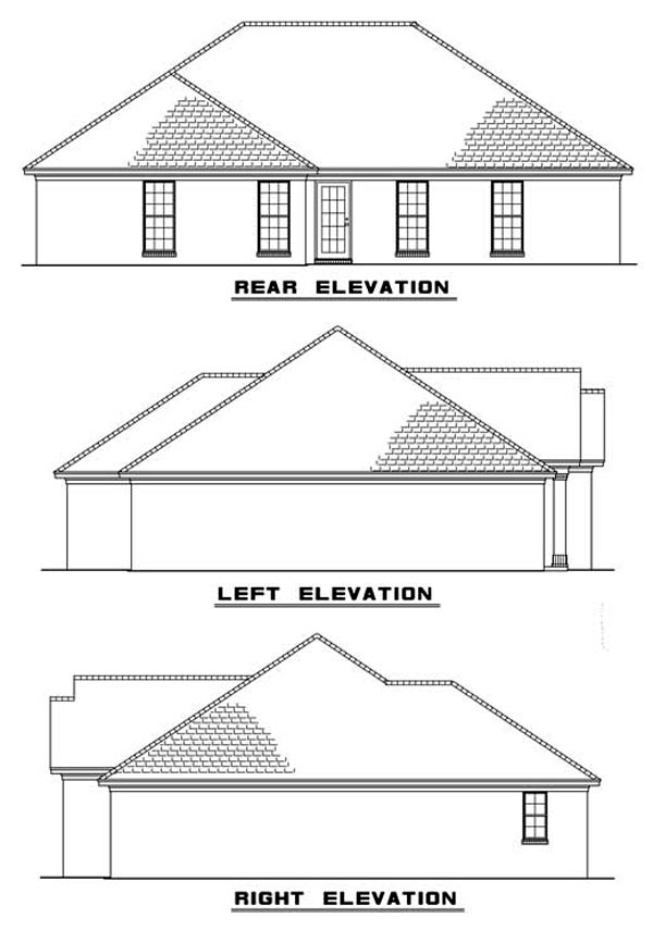 Traditional House Plan 82069 Rear Elevation