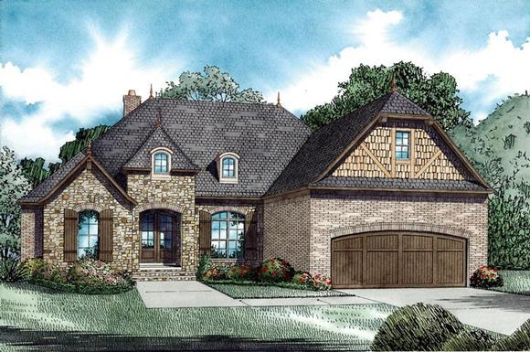 House Plan 82070 with 3 Beds, 3 Baths, 2 Car Garage Elevation