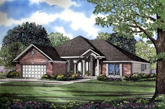 European House Plan 82077 Elevation