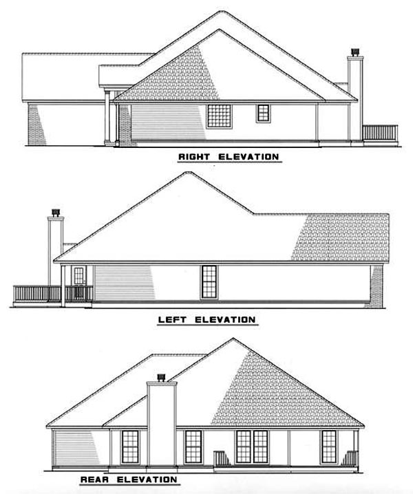 European House Plan 82077 Rear Elevation