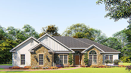 European, One-Story, Traditional House Plan 82079 with 4 Beds, 3 Baths, 2 Car Garage