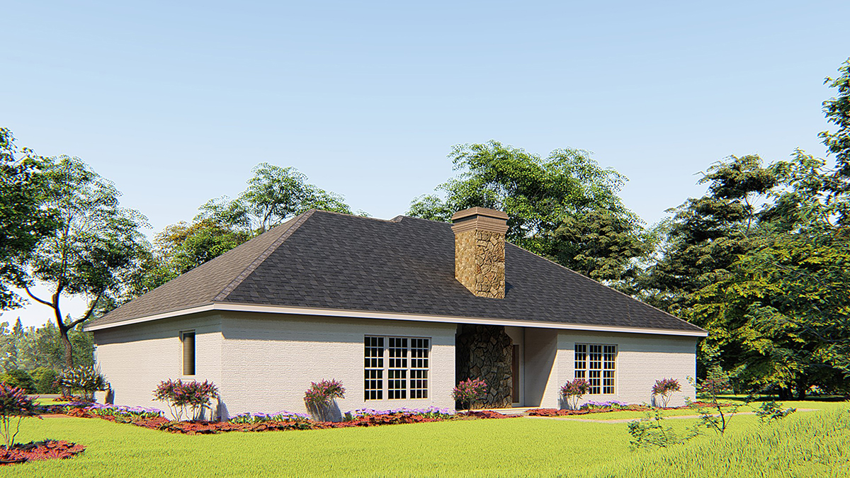 European Traditional House Plan 82079 Rear Elevation