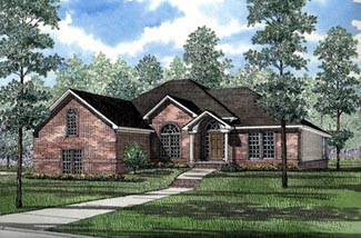 European House Plan 82083 Elevation