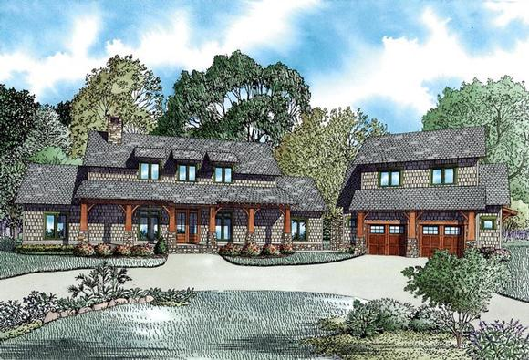 Country, Craftsman, Farmhouse House Plan 82085 with 5 Beds, 4 Baths, 2 Car Garage Elevation