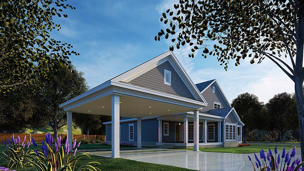 Country House Plan 82087 Rear Elevation