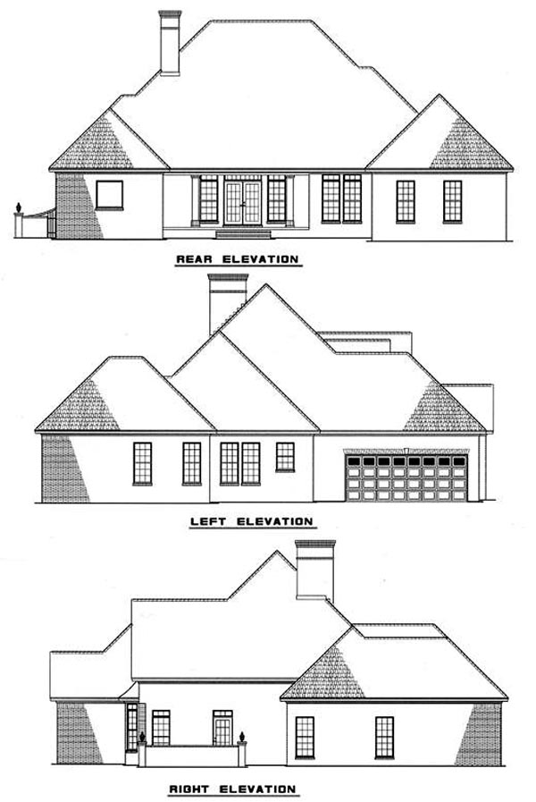 Cape Cod Country House Plan 82092 Rear Elevation