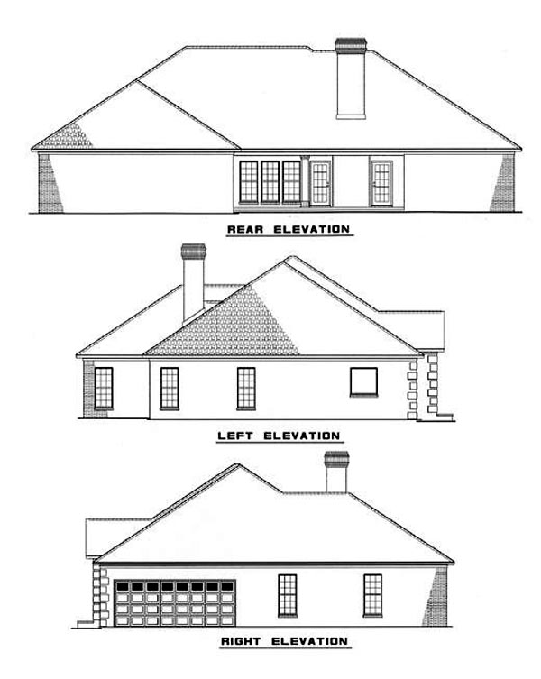 Traditional House Plan 82093 Rear Elevation
