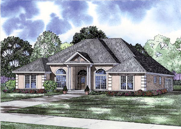Colonial European House Plan 82097 Elevation