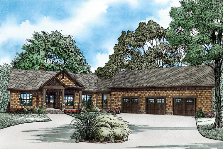 Craftsman Style House Plan 82100 With 3140 Sq Ft 4 Bed 4