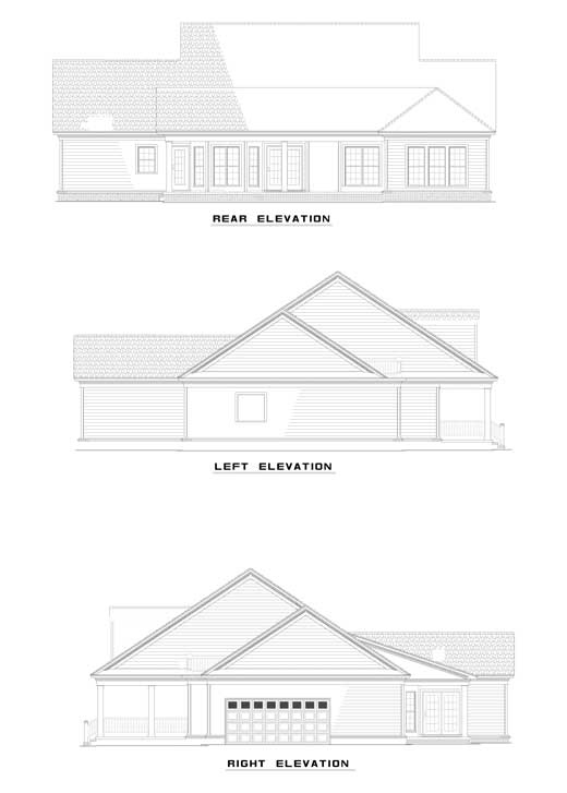Cape Cod Country House Plan 82105 Rear Elevation