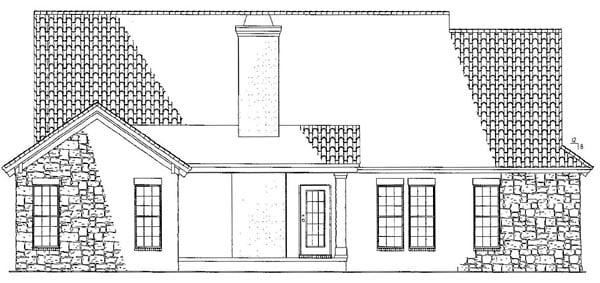Craftsman Italian Mediterranean House Plan 82109 Rear Elevation
