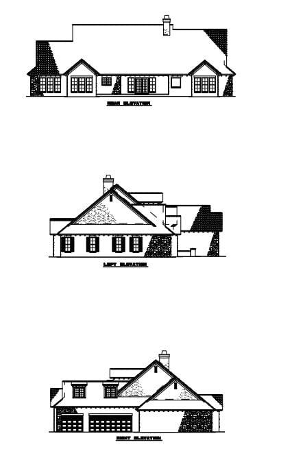 Craftsman Italian Mediterranean House Plan 82117 Rear Elevation