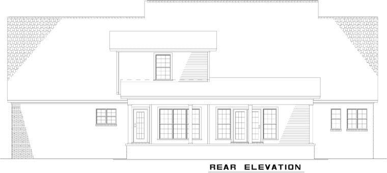 Country Farmhouse House Plan 82123 Rear Elevation