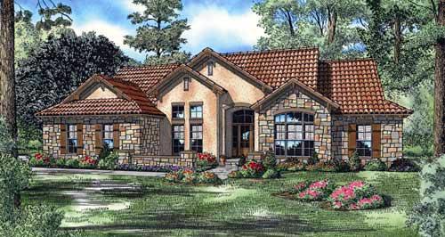 Mediterranean House Plan 82133