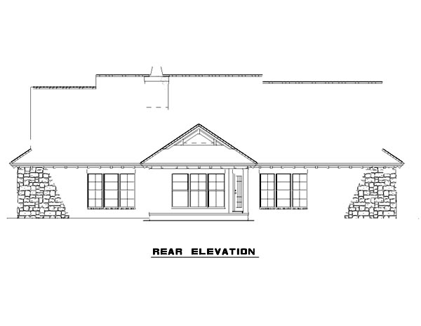 Mediterranean House Plan 82133 Rear Elevation