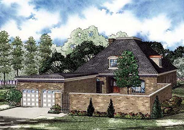 European House Plan 82146 with 4 Beds, 3 Baths, 2 Car Garage Elevation
