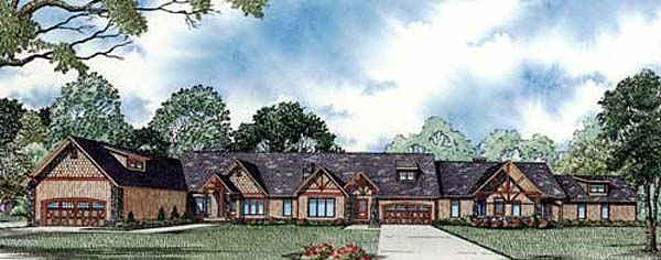 Ranch Multi-Family Plan 82147 Elevation