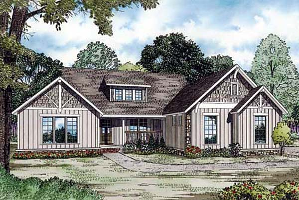 Traditional House Plan 82159 with 4 Beds, 5 Baths, 2 Car Garage Elevation