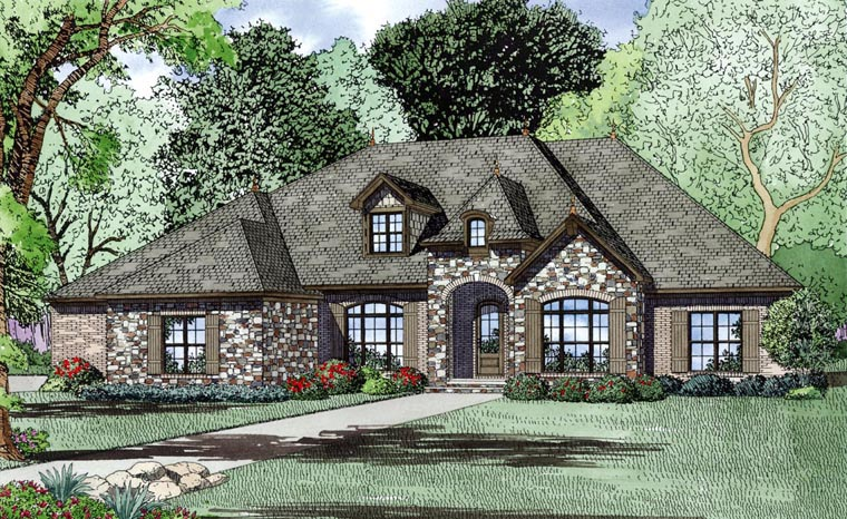 Craftsman European House Plan 82163 With 3415 Sq Ft 4 Beds 5 Baths