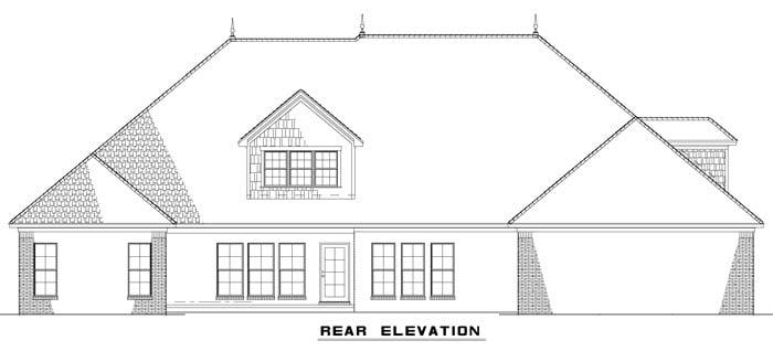Craftsman European House Plan 82163 Rear Elevation
