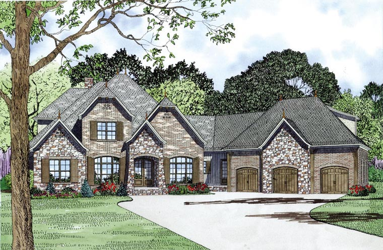 Elevation of Craftsman   European   French Country   House Plan 82164
