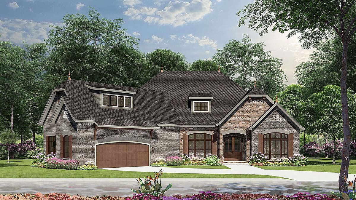 Craftsman European House Plan 82166 With 2408 Sq Ft 3 Beds 3 Baths