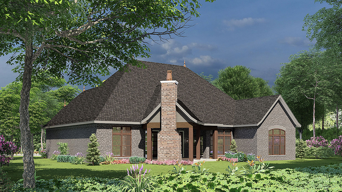 Craftsman European House Plan 82166 Rear Elevation