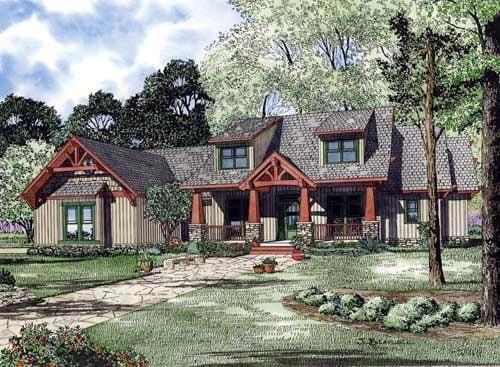 Country Craftsman Tudor House Plan 82217 Elevation