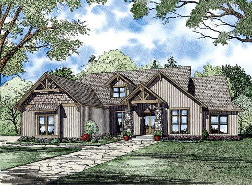 Craftsman Tudor House Plan 82219 Elevation