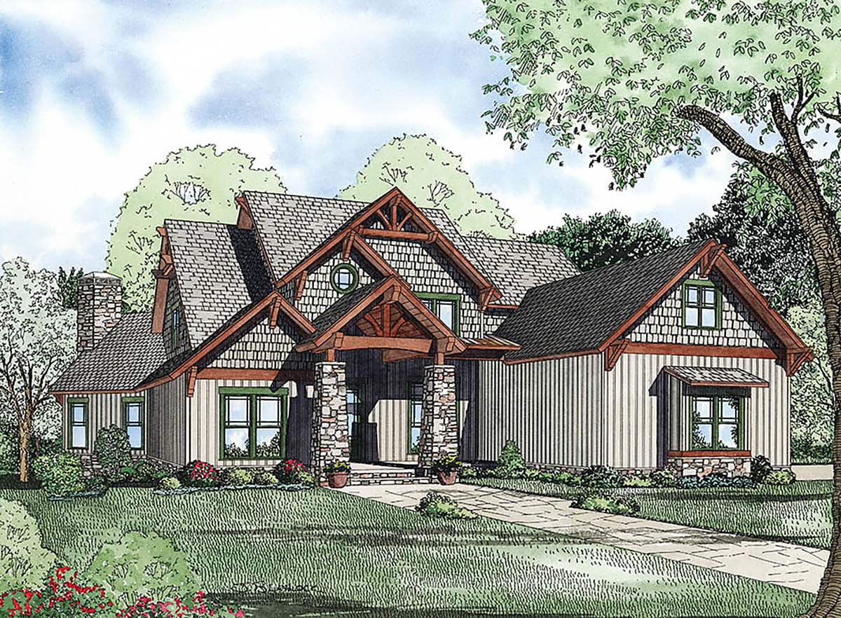 House Plan 82223 with 6 Beds, 5 Baths, 3 Car Garage Elevation