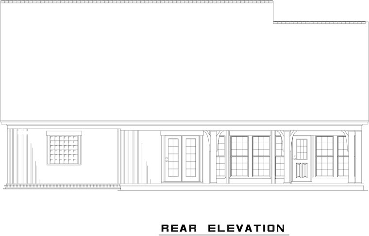House Plan 82226 Rear Elevation