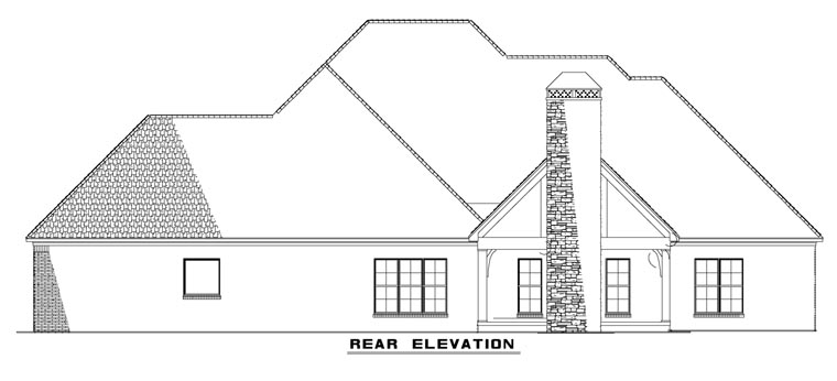 Craftsman European House Plan 82230 Rear Elevation