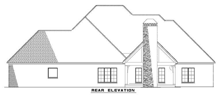 Craftsman European House Plan 82230 Rear Elevation