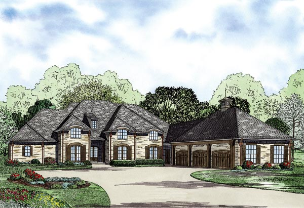 European House Plan 82239 Elevation