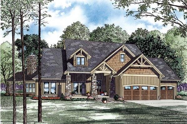 Craftsman House Plan 82260 Elevation