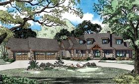 Craftsman , European , Tuscan House Plan 82261 with 5 Beds, 6 Baths, 3 Car Garage Elevation
