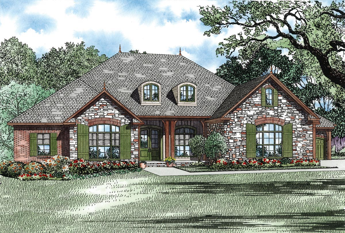click here to see an even larger picture country craftsman european house plan - Brick Cottage Style House Plans