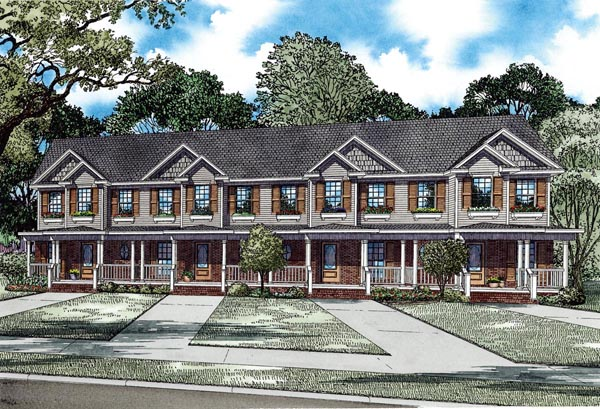 Multi-Family Plan 82277 Elevation