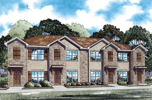 Multi-Family Plan 82287 Elevation