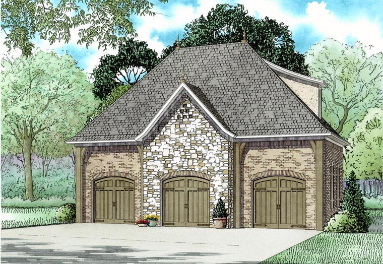 Garage Plan 82325 Elevation