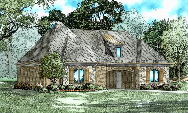 3 Car Garage Plan 82327 Rear Elevation