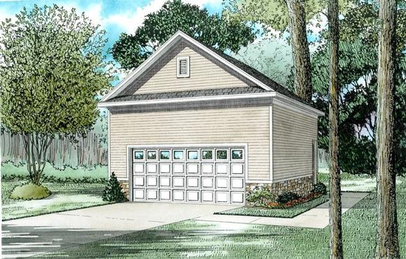 2 Car Garage Plan 82329 Elevation