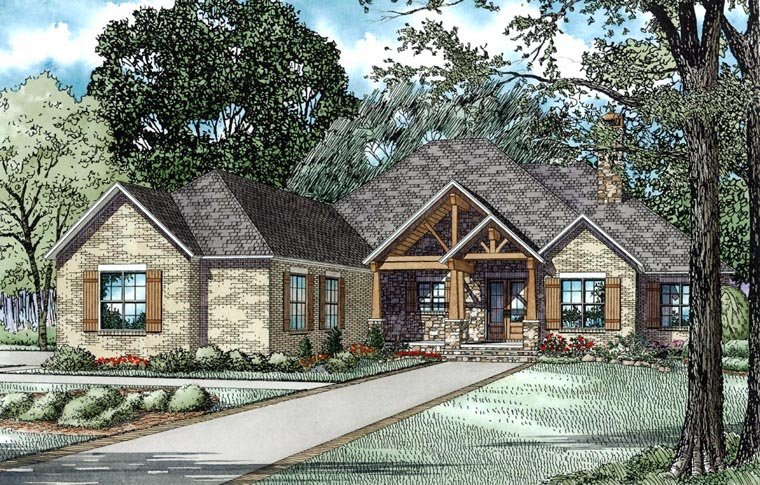 House Plan 82333 Elevation
