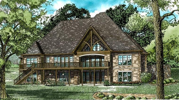 European House Plan 82336 Rear Elevation