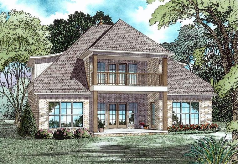 European Tudor House Plan 82340 Rear Elevation