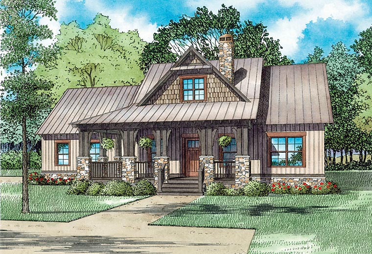 Cape Cod, Cottage, Craftsman House Plan 82341 with 3 Beds, 3 Baths, 2 Car Garage Elevation