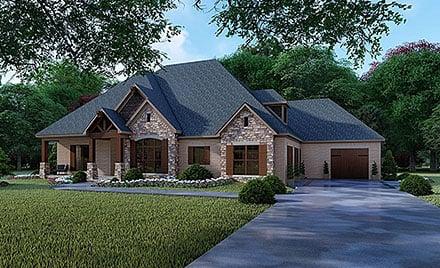 Craftsman, European House Plan 82356 with 4 Beds, 5 Baths, 3 Car Garage