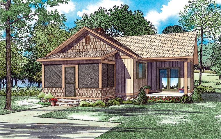 Cabin Southern Traditional House Plan 82358 Elevation