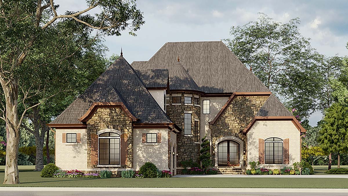 Wonderful Cottage European French Country House Plan 82400 Elevation